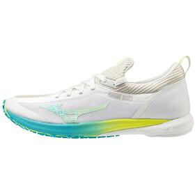 Mizuno Wave Duel 2 Shoes Women, nimbus cloud/safety yellow/scuba blue
